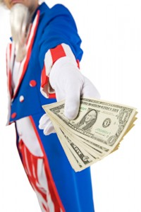 uncle sam with money